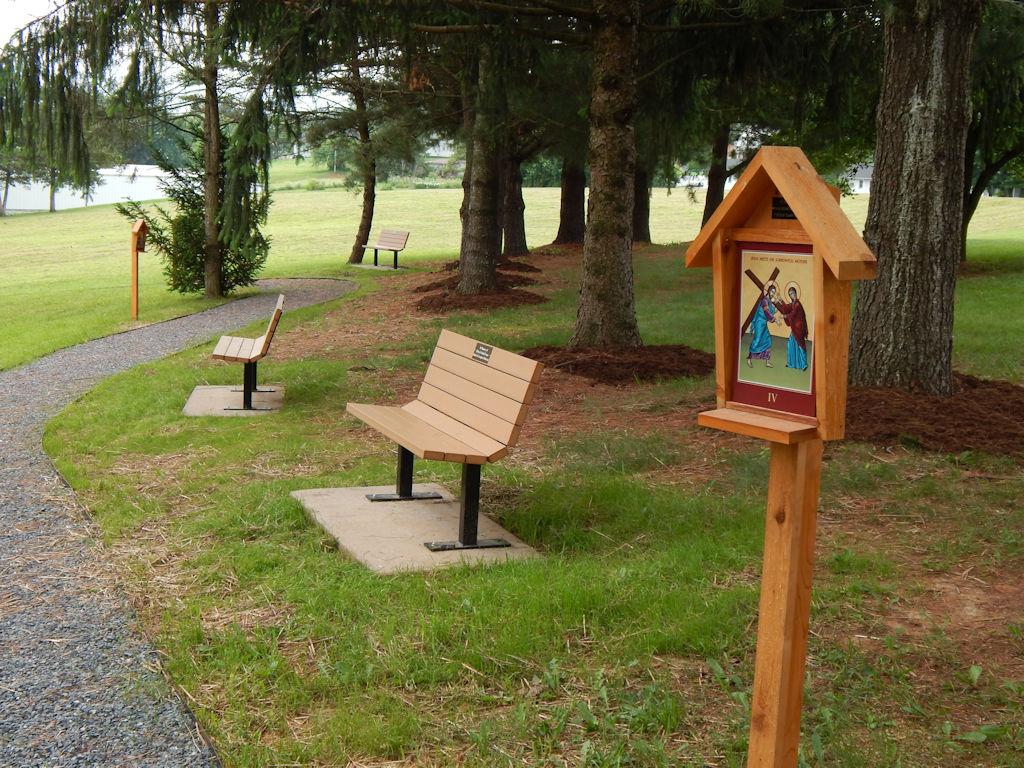 Walkway benches